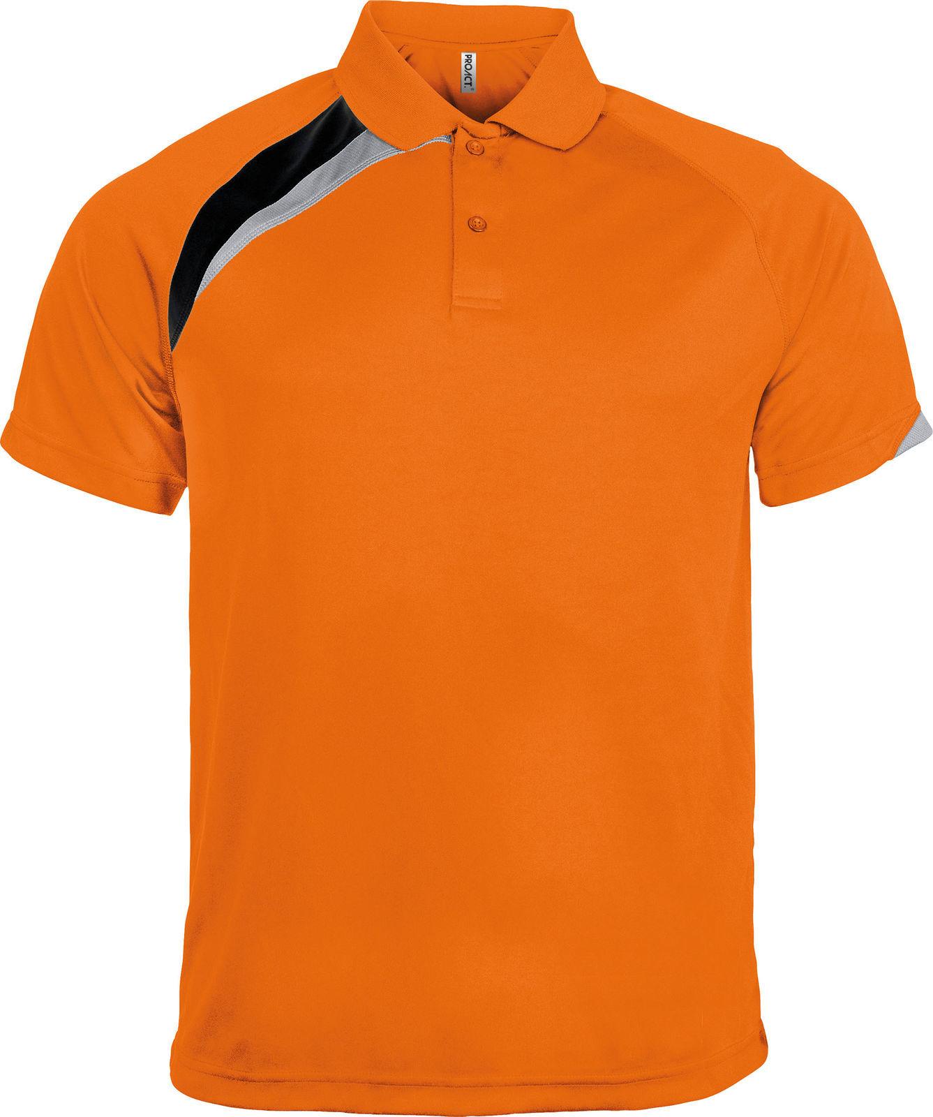 Finden & Hales - Polo sport à manches courtes 100% coton - Homme (M) (Bleu marine/Orange) sg6sFDz