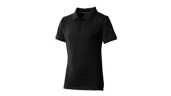 new high quality sleek great look Polos Publicitaires noir, enfant | Kelcom