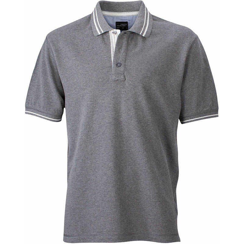 polo contraste visibilite homme - polo personnalise