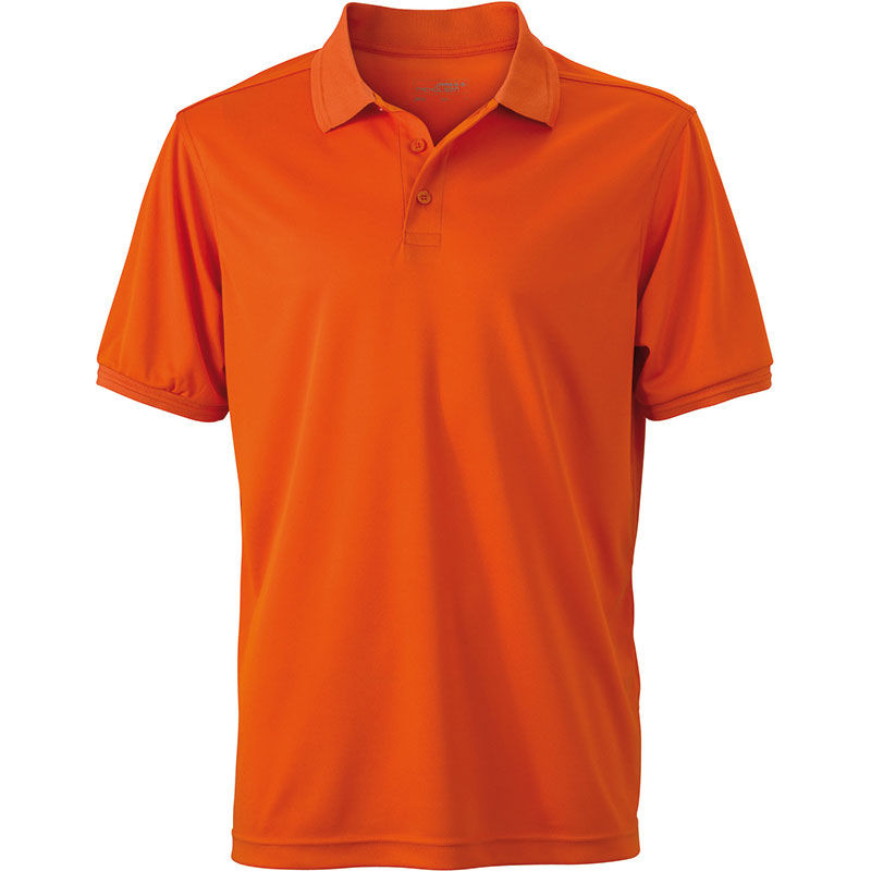 orange fonce - polo micro polyester homme
