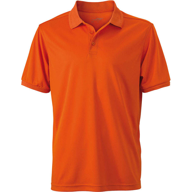 orange - polo micropolyester femme
