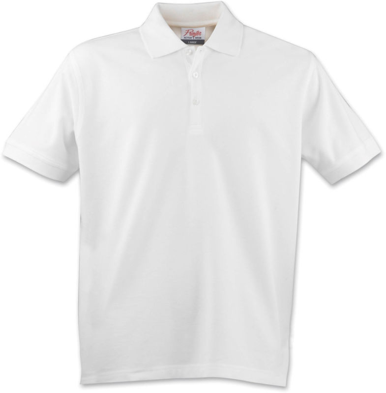blanc - polo pour homme taille