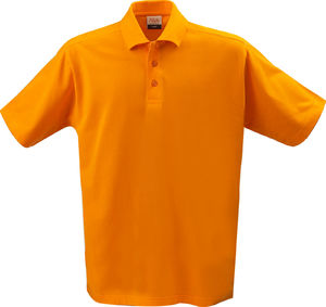 orange - polo 100 pourcent coton