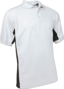 gris clair - polo matiere polyester