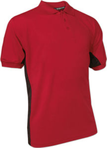 rouge - polo matiere polyester