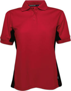 rouge - polo pique femme polyestere