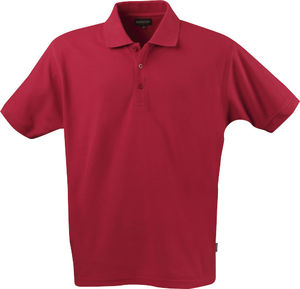 rouge - polo qualite homme