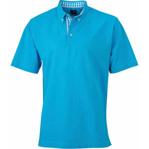 Rihi | Polo manches courtes publicitaire pour homme Turquoise Turquoise