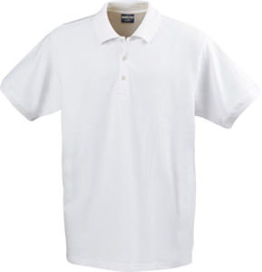 blanc - polo stretch confort