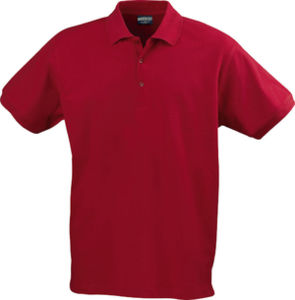 rouge - polo stretch confort